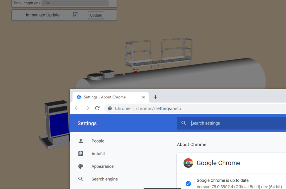 Solved: In Google Chrome 3D model and Configuration Window