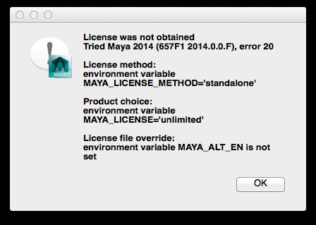 Maya and Mudbox not activating at all - license code not working