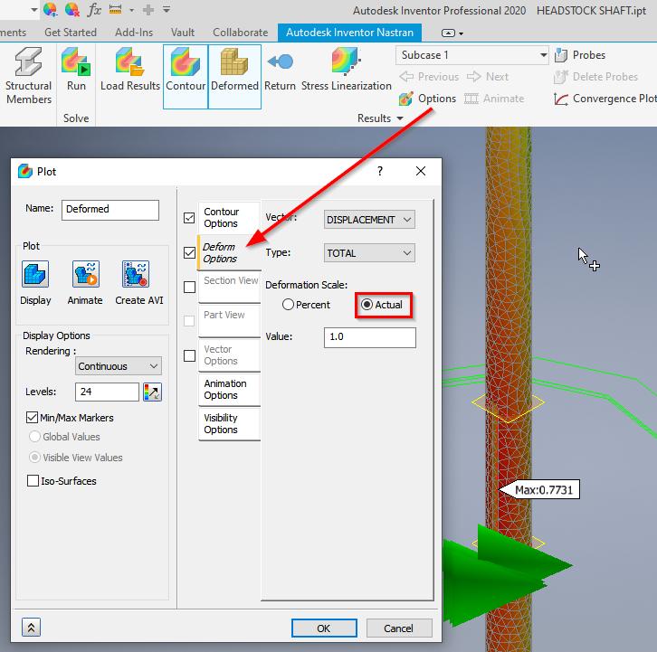 shaft simulation - Autodesk Community- Nastran In-CAD