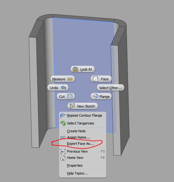 sheet metal piece to dfx - Autodesk Community- Inventor