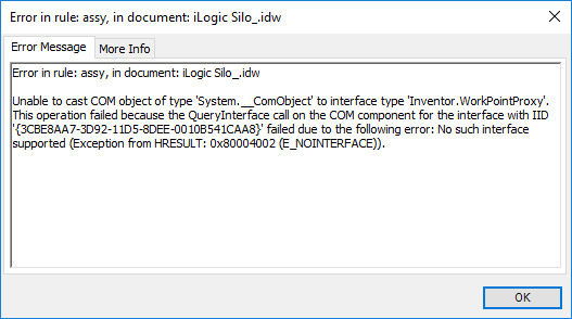 Solved: ilogic: use point from a part in assembly for a