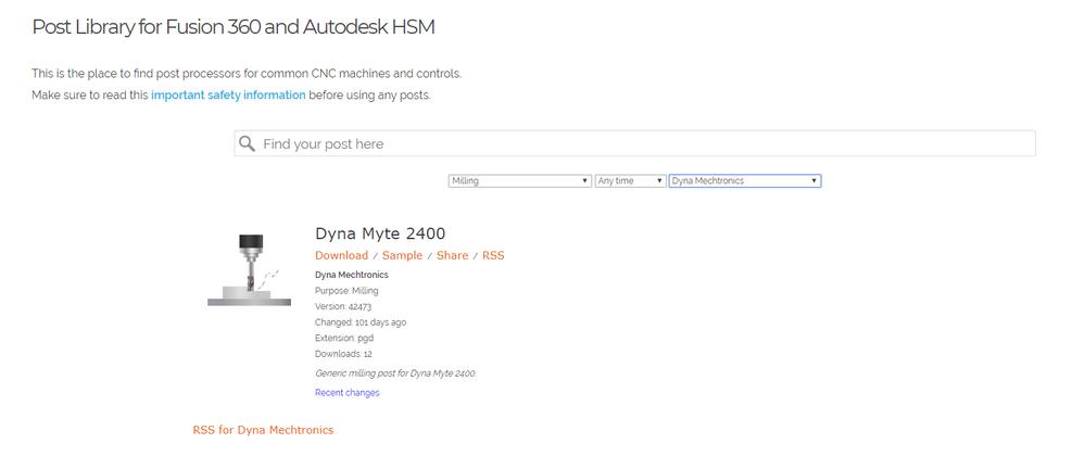 Dyna Myte 3220 post processor - Autodesk Community- HSM
