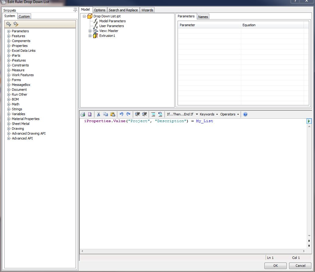How do I create an iproperty with a pull down menu? - Autodesk