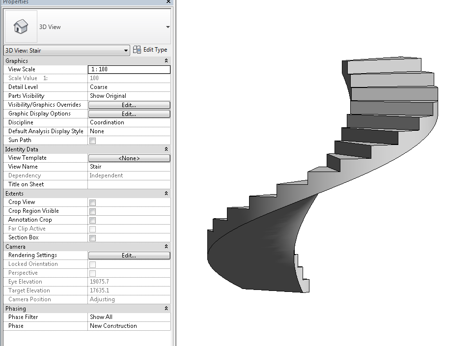 Concrete QTO for cast-in-place / in-situ spiral stair - Autodesk