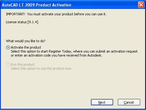 Autodesk AutoCAD LT 2009 license
