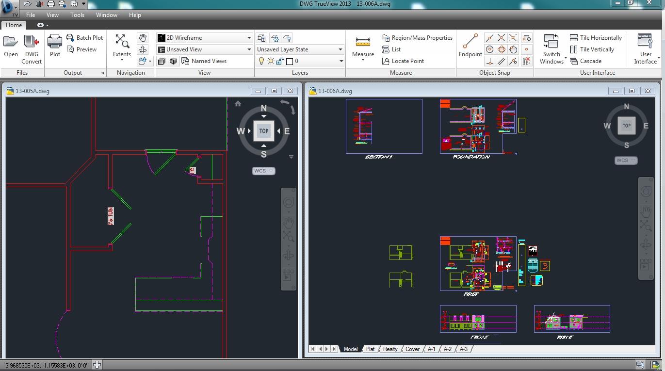 Multiple drawings in one dwg trueview window autodesk - Signe different open office ...
