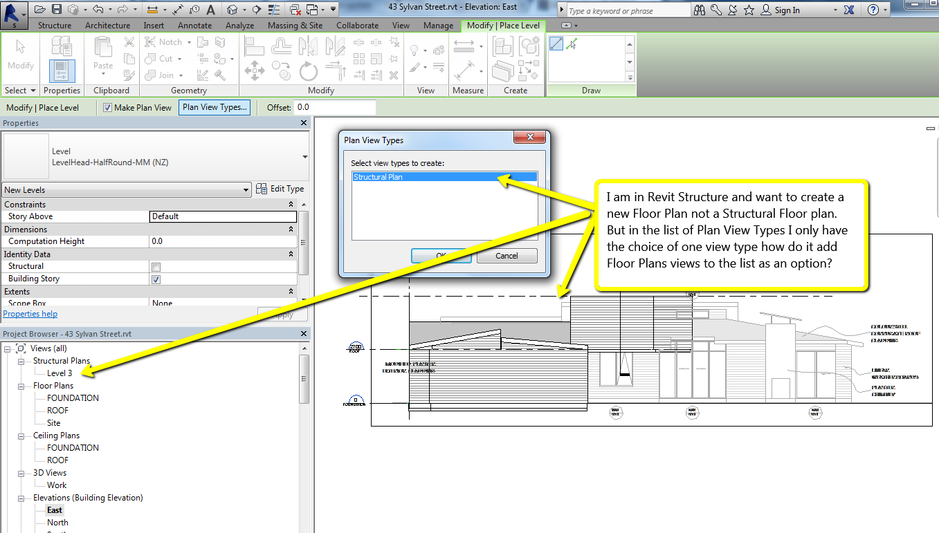 Solved adding floor plan not structural plan autodesk for Add floor