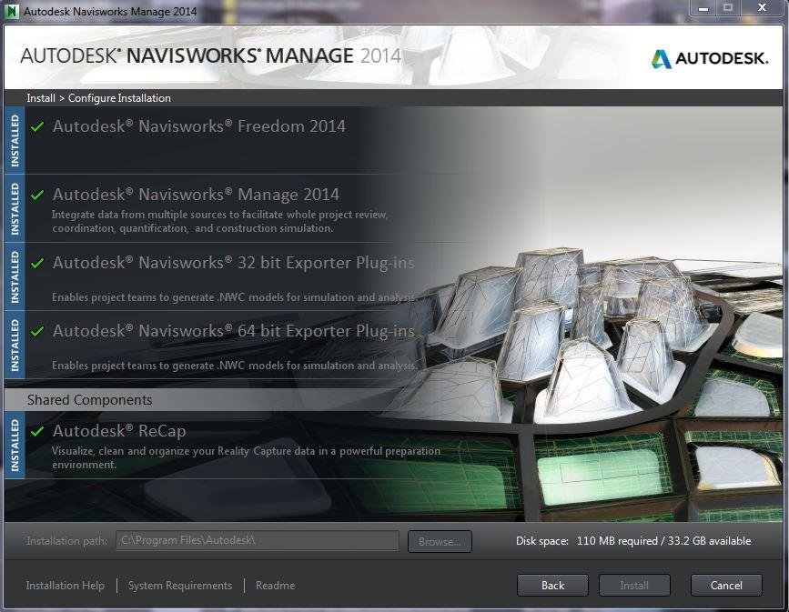 navisworks freedom 2014 32 bit