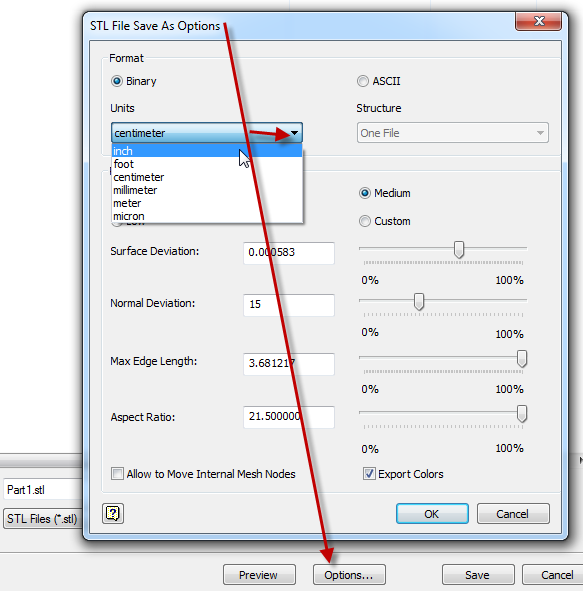 Solved: export a stl file - Autodesk Community- Inventor