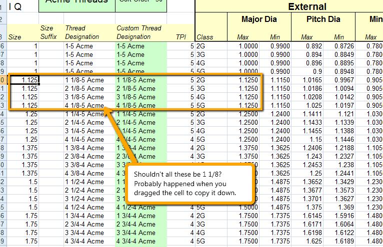 Acme screw threads xls file autodesk community