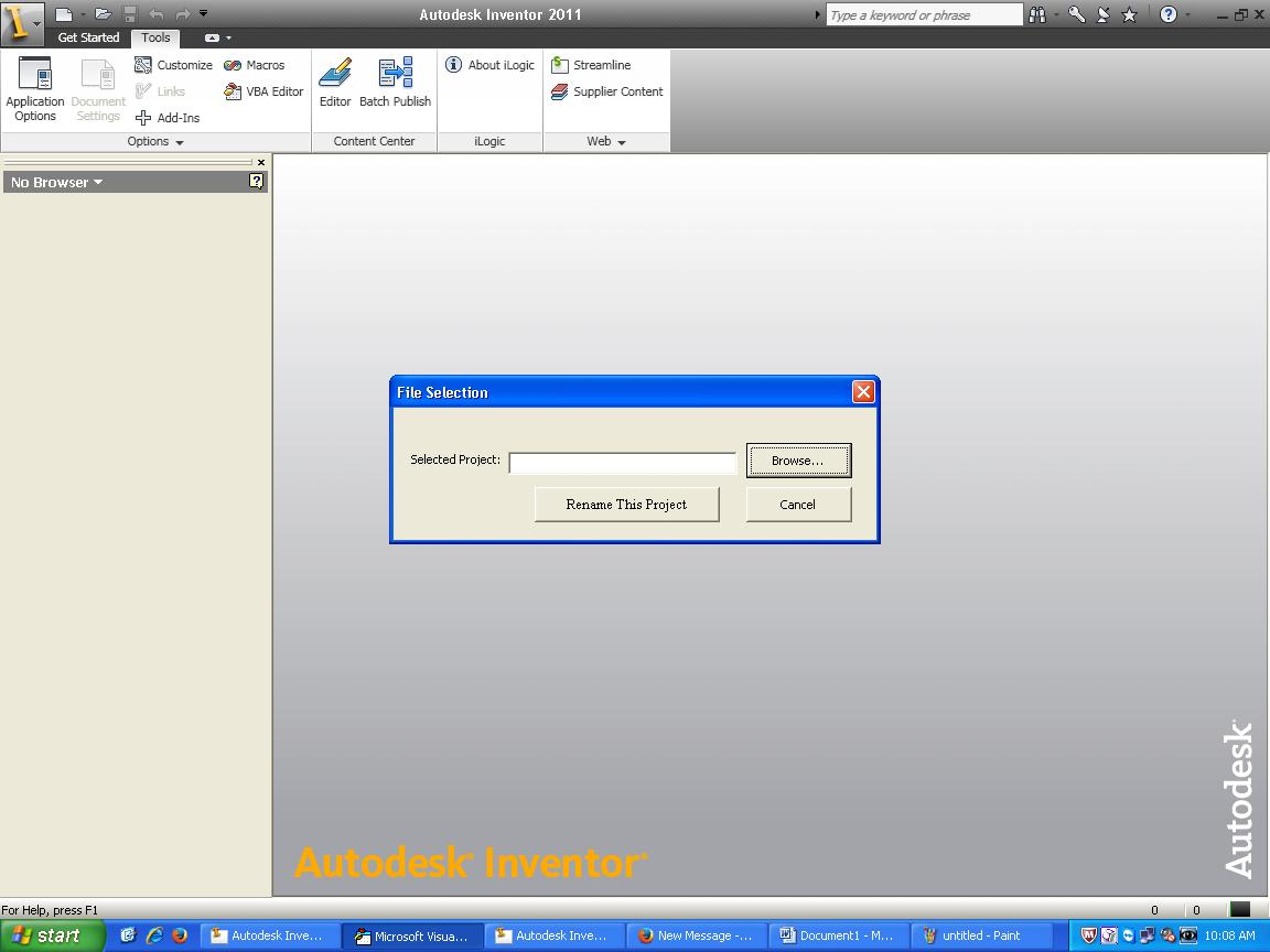 Solved: File Browser in VBA Editor - Autodesk Community- Inventor