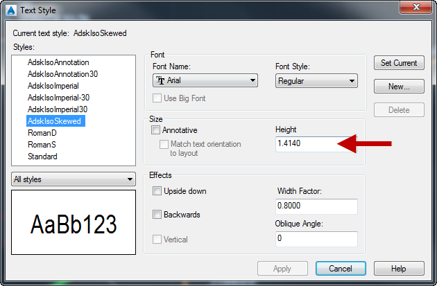 Solved: Annotation ISO font Size - Autodesk Community