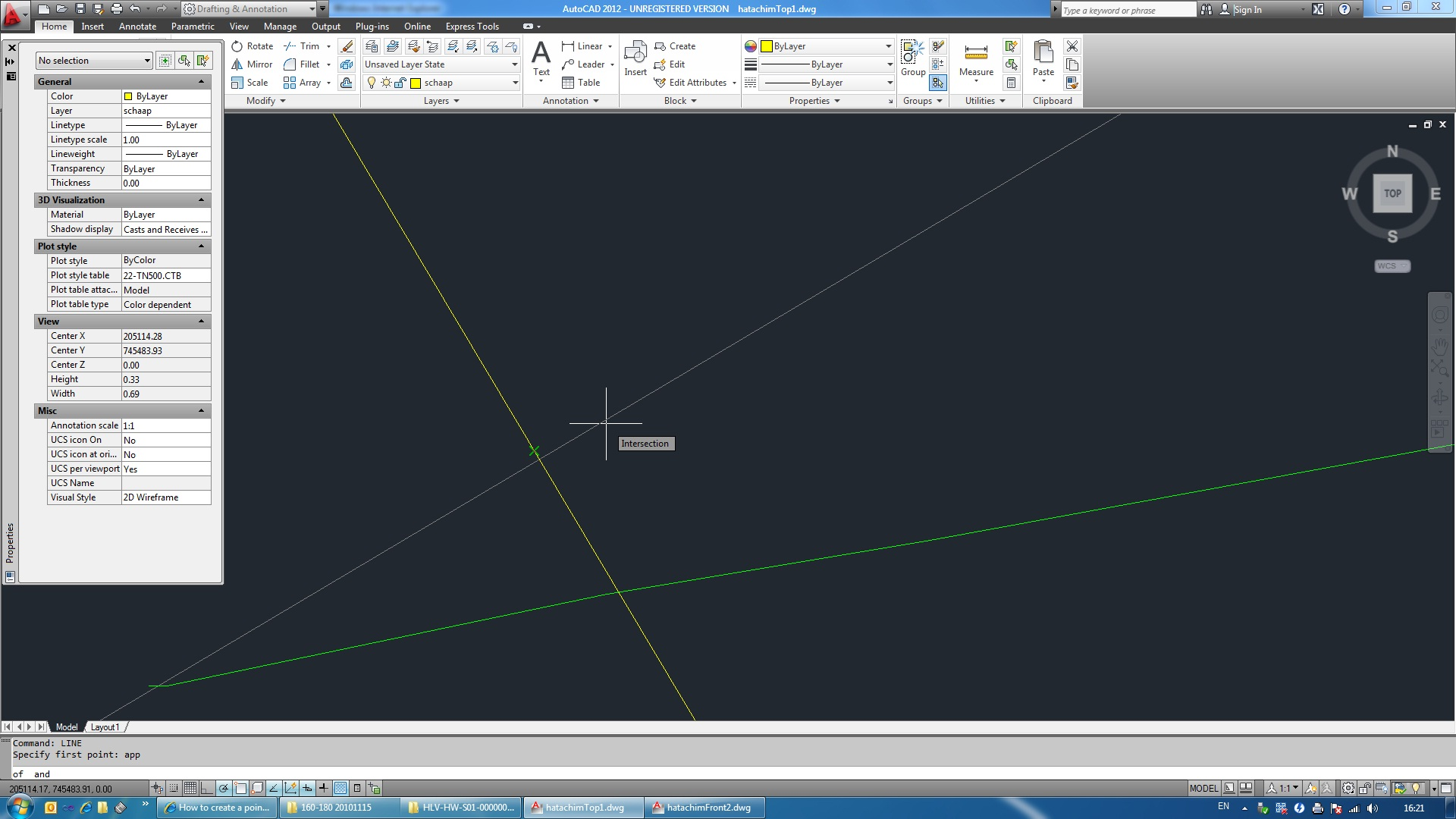 How to create a point where 2 lines intersect? - Autodesk