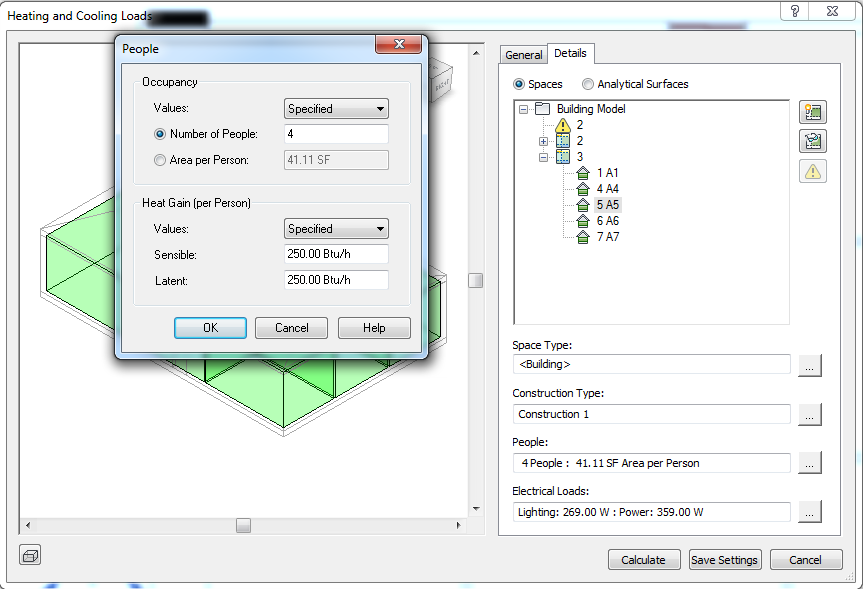 Solved Heating And Cooling Load Calculations In Revit Mep