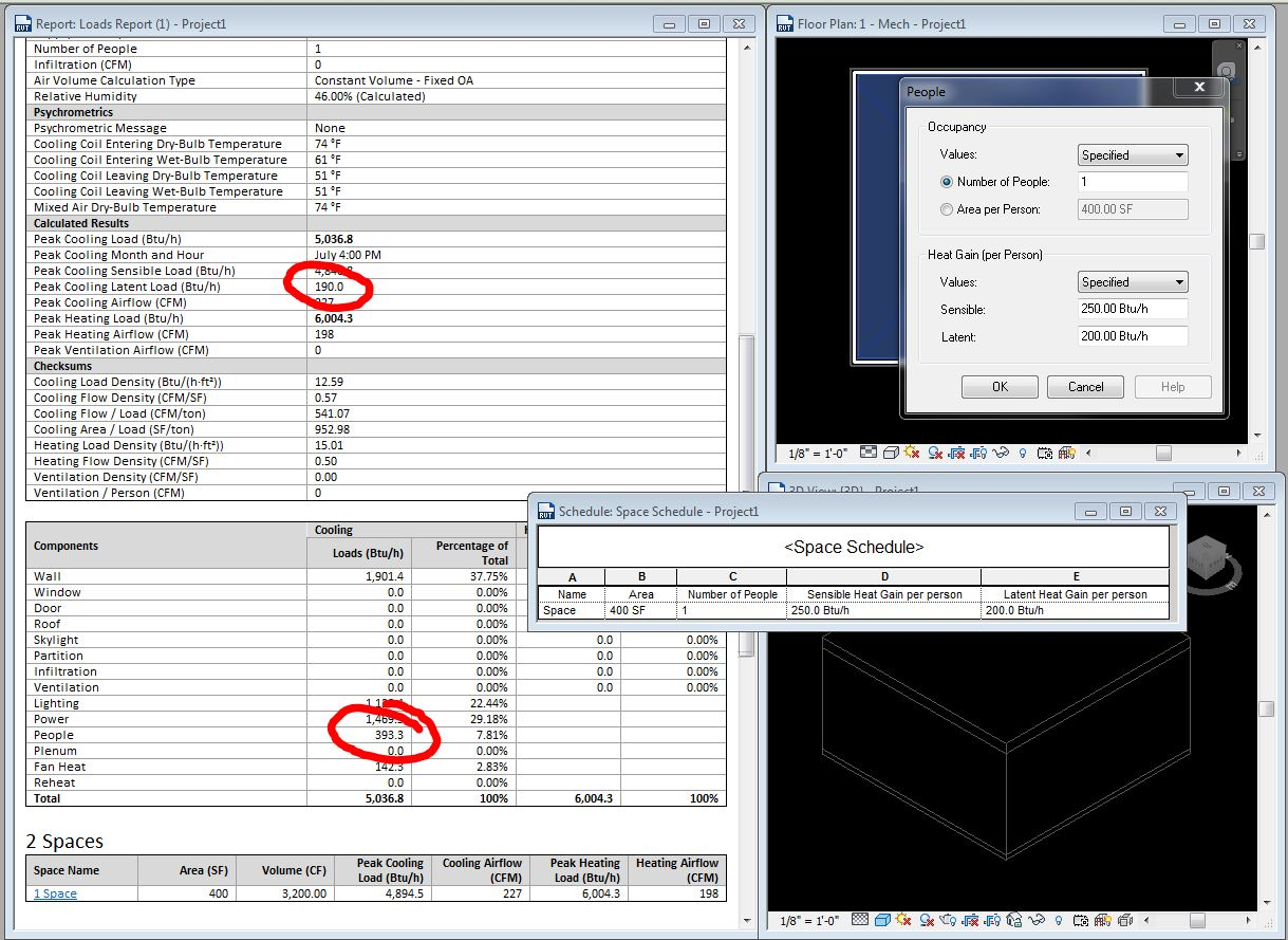 Solved: Heating and cooling load calculations in Revit MEP