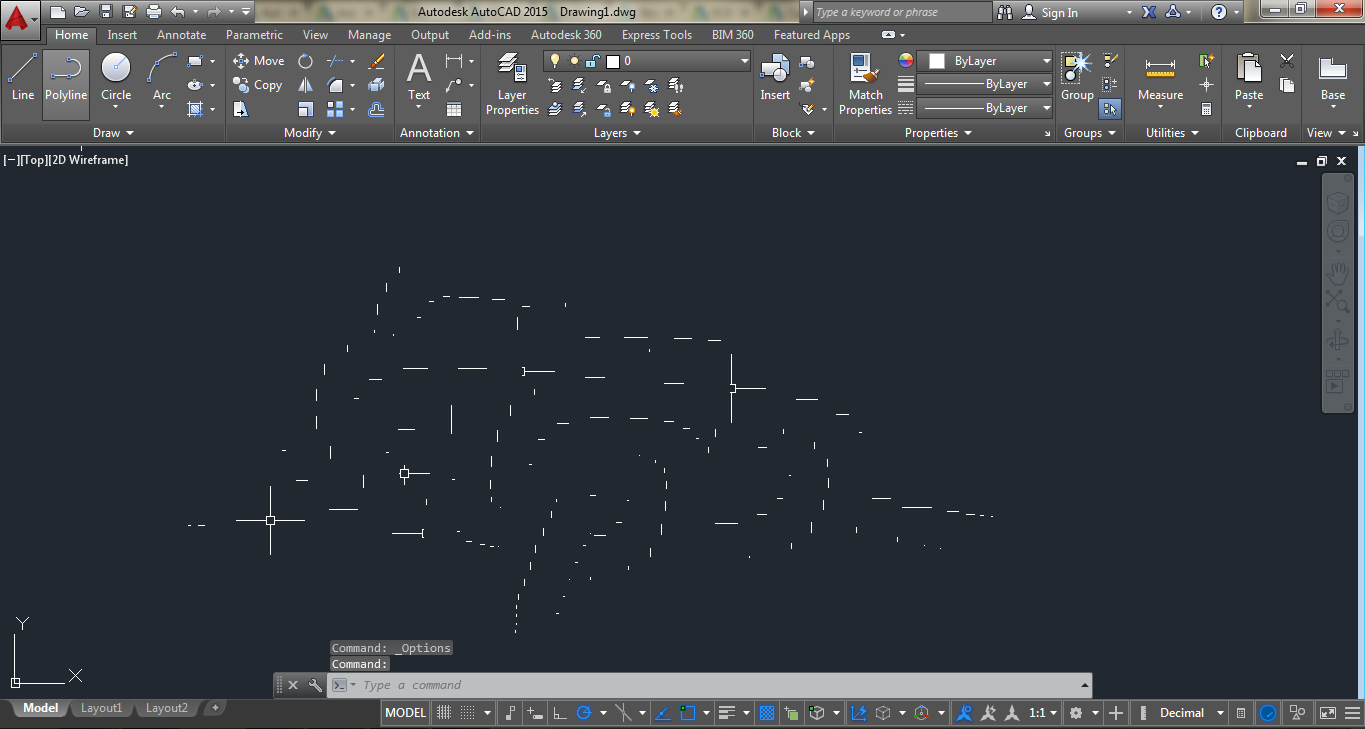 Drawing Smooth Lines In Autocad : Solved graphics problem in autocad autodesk community