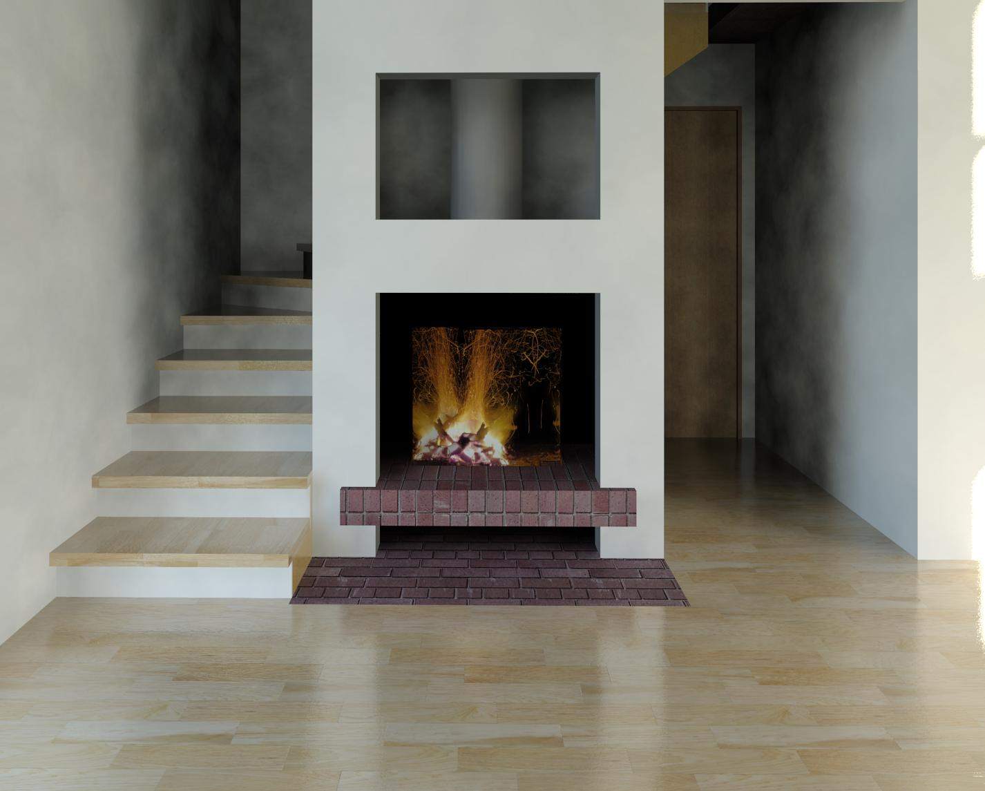 rendering fire for a fireplace in revit autodesk community